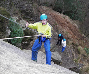 Abseiling at Scout Crag