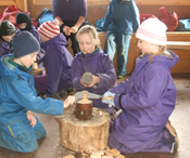 Making Mallets in Jan's Hut